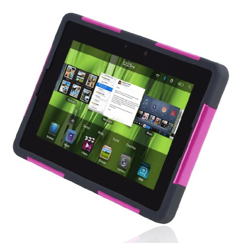Incipio BlackBerry Playbook SILICRYLIC Hard Shell Case with Silicone Core - Magenta/Gray Blackberry Playbook Silicone Case