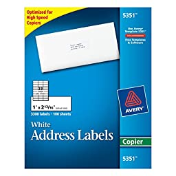 Avery Address Labels for Copiers 1\
