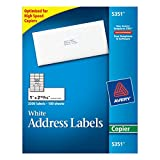 Avery 5351 Self-adhesive address labels for copiers, white, 1 x 2-13/16, 3300/box