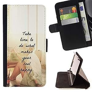 Momo Phone Case / Flip Funda de Cuero Case Cover - Artiste motivation Peinture - Samsung ALPHA G850