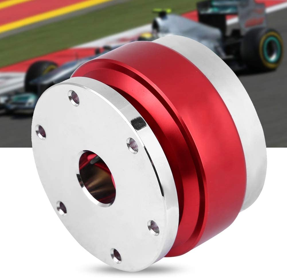 EBTOOLS Universal Steering Wheel Hub Adapter Boss Kit Quick Release for Racing Car Aluminum Alloy Black