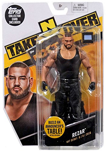 WWE NXT Takeover Rezar Action Figure w/Topps Collectors Card by Wrestling