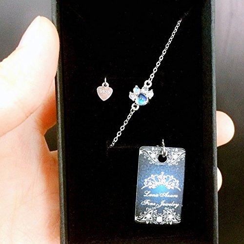 Natural moonstones con forma de huella de plata de ley Fine Jewelry Set