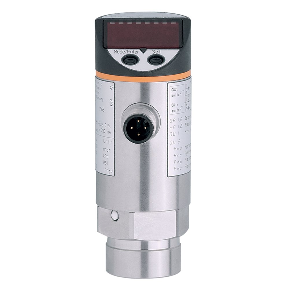 IFM Efector PN7004 Electronic Pressure Monitor, -1 to 10 bar/-14.5 to 145 PSI/-0.1 to 1.0 MPa Measuring Range