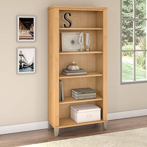 Bush Furniture Somerset 5 Shelf Bookcase in Maple Cross