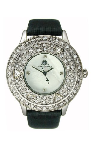 JLO Three-Hand Satin - Black Women's watch - Jlo Satin