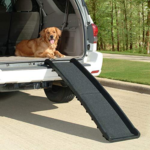 PetSafe Solvit UltraLite Bi-Fold Pet Ramp, 62 in., Portable Lightweight Dog and Cat Ramp, Great for Cars, Trucks and SUVs