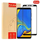 [2-Pack] PULEN Samsung Galaxy A9 2018 Screen Protector,HD Anti-Scratch Bubble Free Ultra Clear 9H Hardness Tempered Glass Film for Samsung Galaxy A9 2018 (Black)