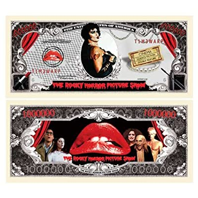 Pack of 5 - Rocky Horror Picture Show Million Dollar Bill - Best Gift for Lovers of This Classic Movie - Do The Time Warp Again: Toys & Games