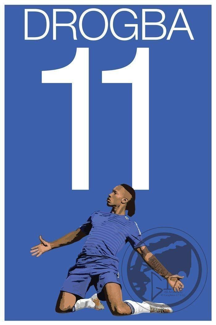 Drogba Poster - Chelsea Soccer Art
