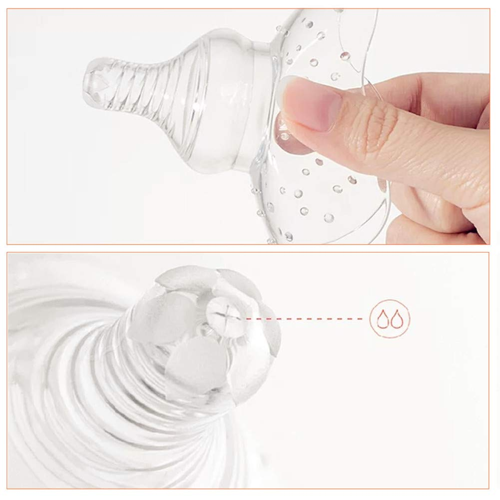 5 Pieces 2 Types Contact Nipple Shields Silicone Transparent Nipple Protector for Breastfeeding with 3 Storage Case