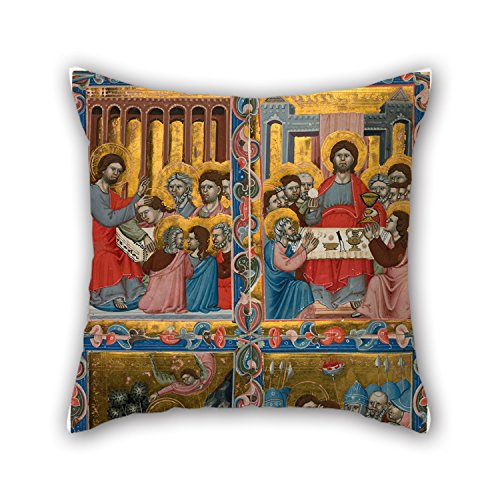 [Loveloveu Throw Pillow Case Of Oil Painting Hungarian Master - Scenes From The Life Of Christ,for Dining Room,bf,husband,floor,kids,gril Friend 18 X 18 Inches / 45 By 45 Cm(double] (Romantic Time Period Costumes)