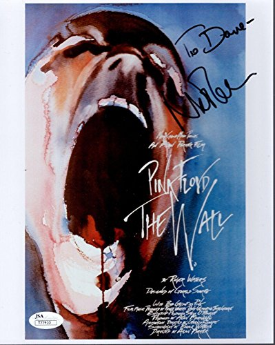 NICK MASON HAND SIGNED 8x10 PHOTO PINK FLOYD THE WALL TO DAVE - JSA Certified