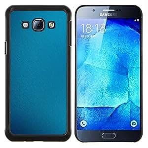 Qstar Arte & diseño plástico duro Fundas Cover Cubre Hard Case Cover para Samsung Galaxy A8 A8000 (Fabrica azul)