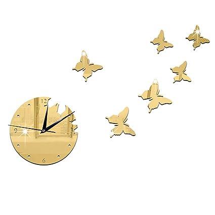 LIU Cute Cartoon DIY Wall Clock Fashion Personality Creative 3D Wall Stickers Birthday Celebration Gift Decoration