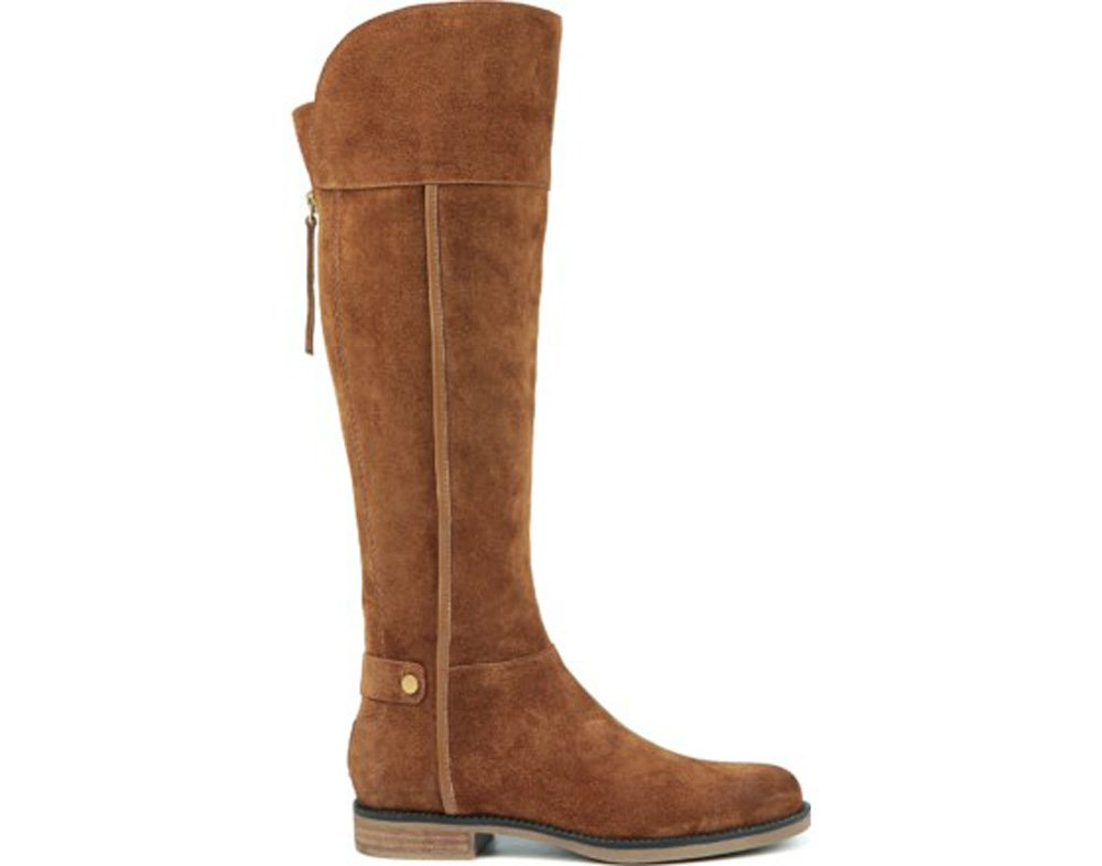 Franco Sarto Women's Christine Wide Calf Riding Boot B01G8VKSGA 12 B(M) US|Cognac