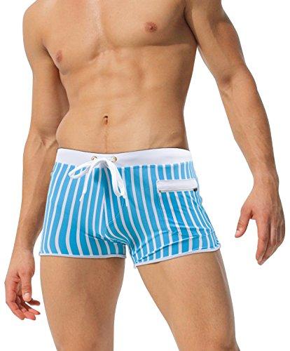 """austinBem Mens Swim Trunks, Mens Swim Briefs Front Zip Pocket (US X-Small/Tag S (25""""-27""""), 51)"""