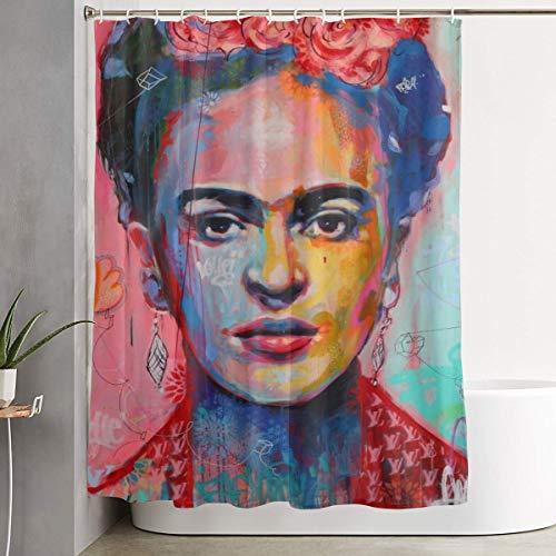 Denise K Steinbach Frida Kahlo Shower Curtain Standard Waterproof Shower Curtain Antibacterial Eco-Friendly Decoration Bath Curtain 60 X 72 Inch