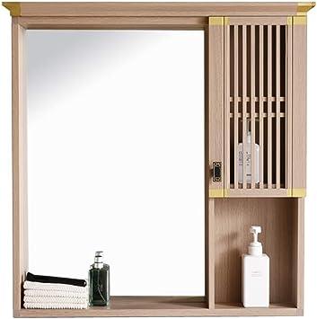 HSRG Gabinete de Espejo para baño con estantes Gabinete de ...