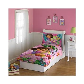 Awesome Dora The Explorer 4 Piece Toddler Bedding Set Amazing Ideas