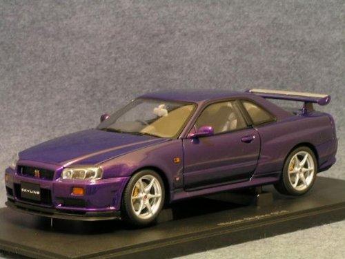 1/18 日産 スカイライン GT-R R34 Vスペック(パープル) 「MILLENNIUMシリーズ」 77305