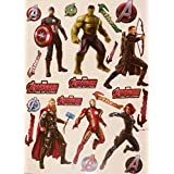 "Marvel Avengers FATHEAD Superhero Set Official Vinyl Wall Graphics - HULK, THOR, CAPTAIN AMERICA, IRON-MAN, HAWKEYE, BLACK WIDOW, 7"" INCH EACH"