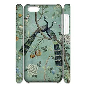 3D Cases for IPhone 5C, Vintage Peacock Cases for IPhone 5C, Stevebrown5v White