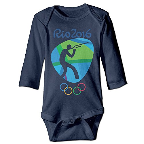 Babycu Baby's Shooting Logo Rio Olympics 2016 Hanging Bodysuit Romper Playsuit Outfits Clothes Climbing Clothes Long Sleeve