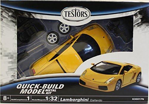 Testors Prepainted Metal Car Model Kit, Yellow
