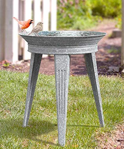 Amazon.com: Panacea Vintage Metal Bird Bath and Stand ...