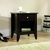 1 Drawer Nightstand with Open Shelf