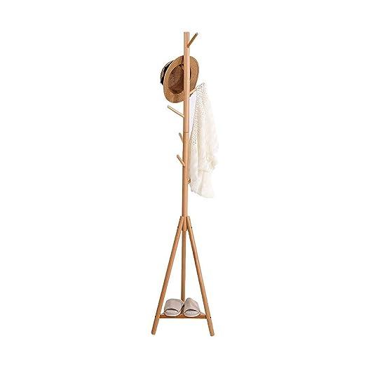 Amazon.com: Yingzi - Perchero esquinero de madera maciza ...