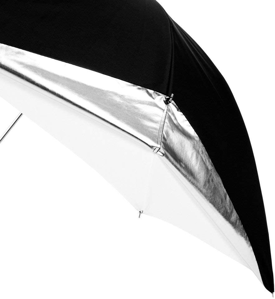 Cast-Iron Collapsible 1x 43 inch Translucent Photography /& Video Reflector Umbrella - Easy Set-up Lightweight Durable Nylon Fovitec
