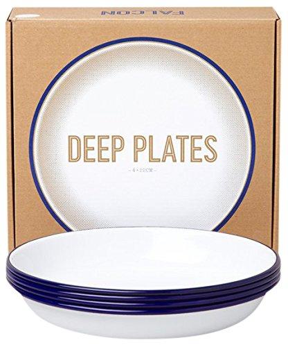 Falcon Deep Plates - Blue + White by Falcon Enamelware - Falcon Enamelware