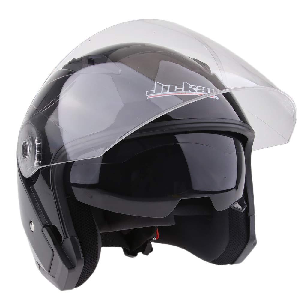 Wei/ß M perfk Motorradhelm Integralhelm Rollerhelm Voll Gesicht Helm Sturzhelm Doppelvisier Sonnenblende f/ür Damen Herren