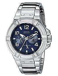 Guess Men's U0218G2 Silver Stainless-Steel Quartz Watch