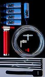 Small Engine NOS NO2 Nitrous Oxide Kit 49-250 2 & 4 Stroke, EFI & Carb +5 Bottles of NOS
