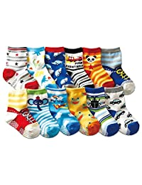 Z-Chen 12 Pack of Baby Unisex Cotton Non-skid Socks Anti Slip