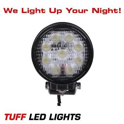 """Tuff LED Lights 4"""" Inch Round 27watt LED Work Lamp Light 2150 Lumen, Off Road, Atv, Utv, Polaris Ranger"""