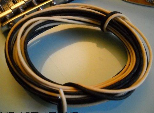 20 Feet (10 White/10 Black) Gavitt Cloth-covered Pre-tinned Pushback 22awg Vintage-style Guitar - Wire Kit Pre