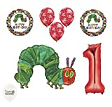 1st First Birthday The Very Hungry Caterpillar Balloons Party Bouquet Bundle