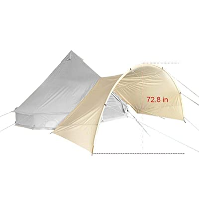 RT Round Front Awning Diameter Canvas Waterproof Glamping Bell Teepe Yurt Stove Tent: Garden & Outdoor
