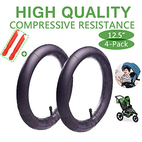 12.5'' x 1.75/2.15 Back Wheel Replacement Inner Tubes (2-Pack) for BoB Revolution SE/Pro/Flex/SU/Ironman - Made from BPA/Latex Free Premium Quality Butyl Rubber