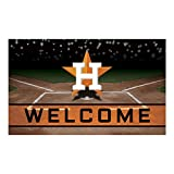 FANMATS 21919 Team Color Crumb Rubber Houston Astros Door Mat, 1 Pack