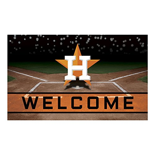 FANMATS 21919 Team Color Crumb Rubber Houston Astros Door Mat ()