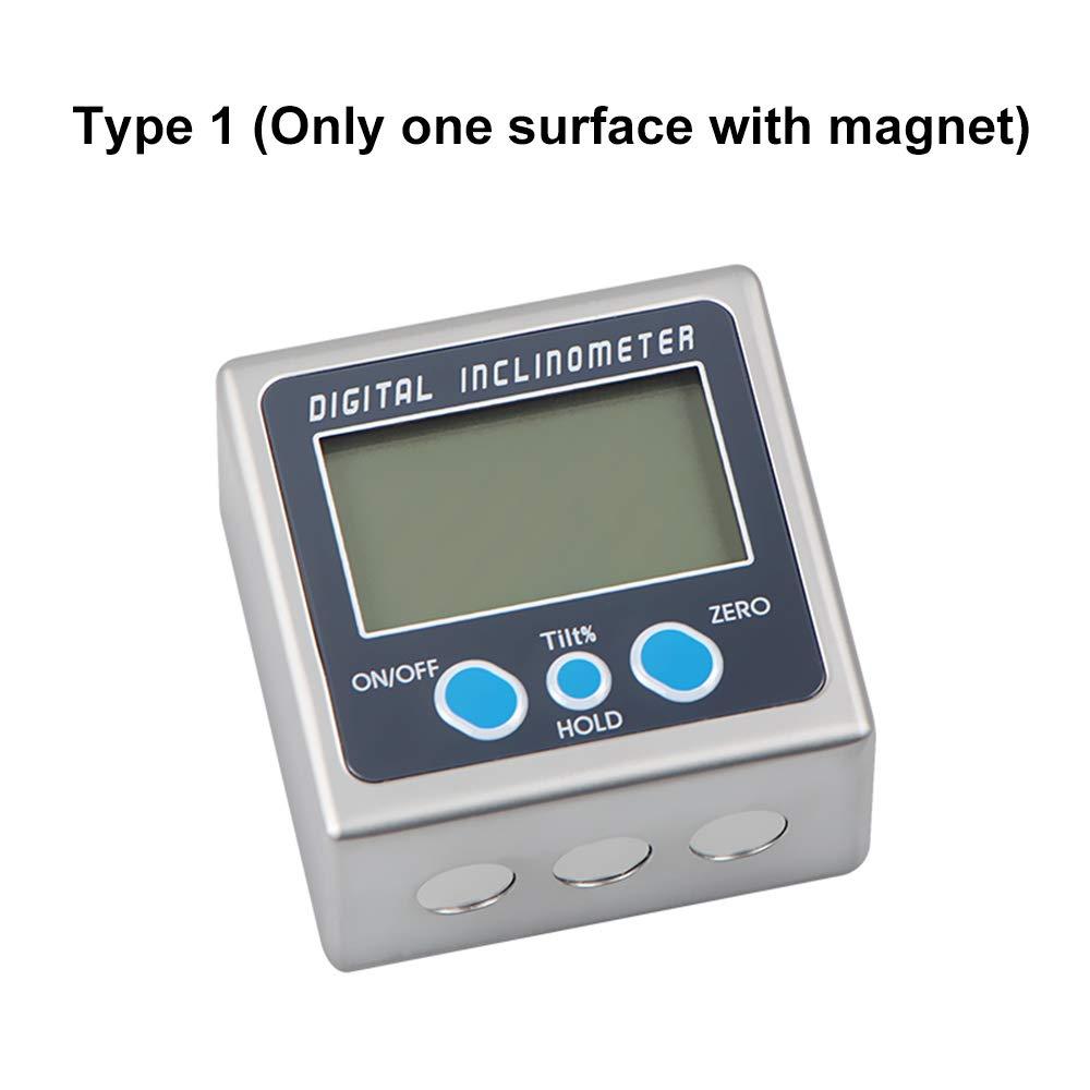 Mini Wasserdicht Bevel Box Winkelmessger/ät Wasserwaage Zink Legierung Shell 360 /° elektronischer Winkelmesser mit Magnet Fesjoy Digitaler LCD Winkelmesser Neigungsmesser