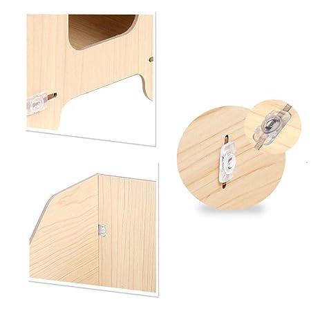 Gabinete para archivos de escritorio Marco de caja de almacenamiento de madera de cuatro capas Información de la revista vertical Multicolor 32.5cm * 21cm ...