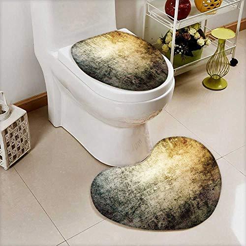 Custom Made Chandelier - Printsonne 2 Piece Shower Mat set grunge wallpaper Custom made Heart shaped foot pad Set