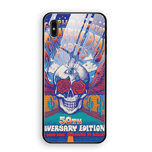 iPhone X Case,Complete Annotated Grateful Dead Luxury Ultra Thin Slim Anti-Scratch Hard Tempered Glass Back Cover ()