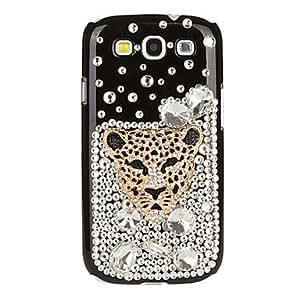 Zircon Leopard Head Pattern Case for Samsung Galaxy S3 I9300